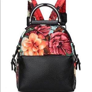 Handbags - Ashoreshop Printed Flower Leather Bagpack  $47
